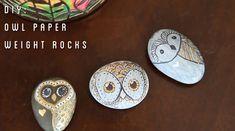 Owl paper weight rocks Pinned by www.myowlbarn.com
