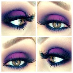 MAC Indian ink, vibrant grape eyeshadows with smolder eyeliner and MAC lashes #21. Makeup by Anna