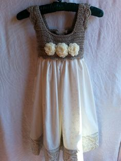 Crocheted bodice dress available at www.facebook.com/sewuniquehomestead