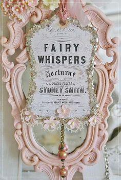 mirror, vintage shabby chic, fairi whisper, fairies, vintag shabbi, shabbi chic, fairi thing, pink, pretti