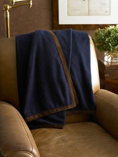 Suede Trim Cashmere Blanket - Throws  Throws & Bed Blankets - RalphLauren.com