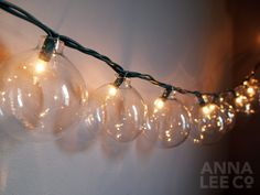 "Ornament Lights- if you buy these in bulk or on sale after the holidays, then you can get that uber romantic ""patio lights"" look for waaaay less."
