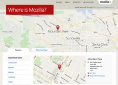 Mozilla's maps: contact page by MapBox, via Flickr