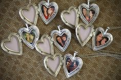 Lovely gift idea for bridesmaids! Lockets with a photo of them with the bride :) |  Melissa McClure Photography
