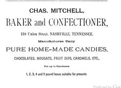 Chas Mitchell;1883 Nashville Business