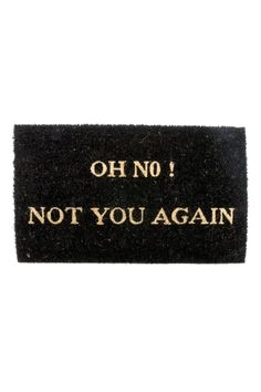 Karlsson by Present Time Doormat Oh No w/ Rubber Coating