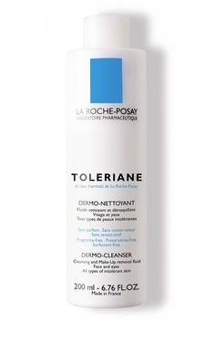 La Roche-Posay Toleriane Dermo-Cleanser: it feels like feathers on your skin and removes everything, without leaving any greasy, tacky residue. After using it, it seems your skin says Thank you! La Roche-Posay skin care products are recommended by 25,000 dermatologists worldwide. I call that reassuring!