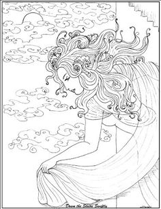Art Nouveau Coloring Pages - Beautiful Girl