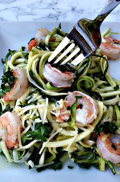 Shrimp Scampi with Zucchini Noodles #Shrimp #ZucchiniNoodles #ShrimpScampi