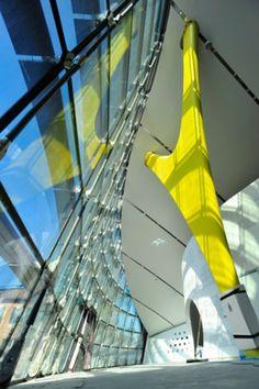 Yellow fever: Enzo Ferrari Museum by Jan Kaplický, Future Systems.
