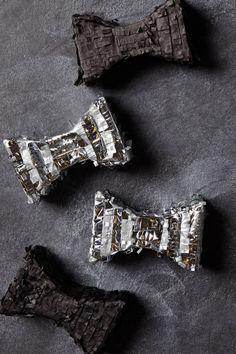 "Silver and Black 4"" Mini Bowtie Pinatas - anthropologie.com"