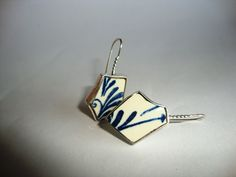 dutch design jewelry  one of a kind and handmade by me!  Silver and Delft's Blue pottery shards
