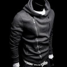 south korean men's hoodie jacket coat sweatshirt