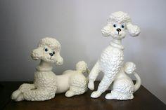 vintage ceramic poodles