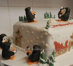 Coolest Penguin Winter Wonderland Cake... This website is the Pinterest of homemade birthday cakes