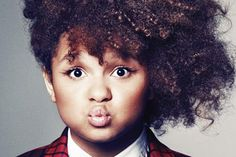 Rachel Crow #CurlSpotter #NaturalHair- 13 year old singer. Cute!