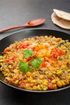 Slow cooker lentil soup (Dhal)