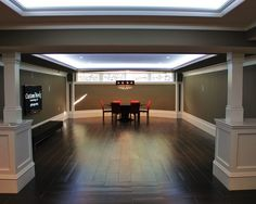 Basement-yummy hardwood floors