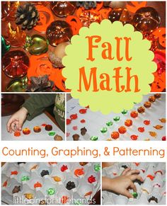 fall early learning math graphing patterning and counting