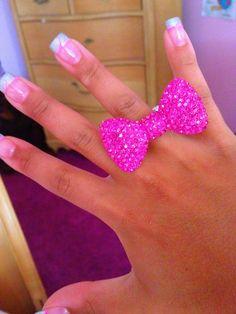 pink bow ring
