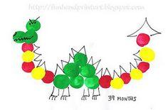 Thumbprint Dragon - fun Chinese New Year Craft!