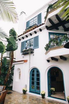 Blue & white Spanish villa #dreamhome #spanishstyle