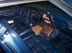1982 Chrysler Imperial interior in cobalt.