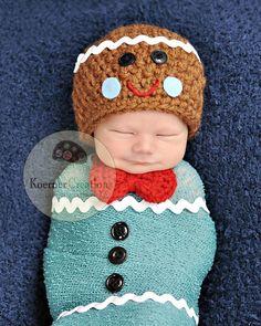 adorable gingerbread man hat