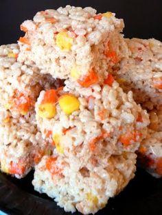 Crispy Candy Corn Treats