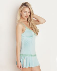 The Lace Trim Babydoll Panty Set by IntiMint.com