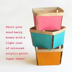 painted wood berry boxes