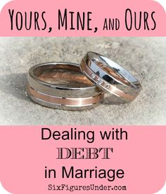 Debt can complicate and corrupt relationships.  Let's look at the way we define ownership of debt in marriage so we can improve finances and relationships.