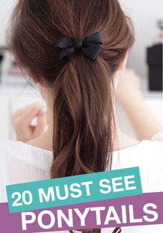 Having a bad hair day? Give one of these must see ponytails a try!