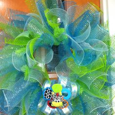 Baby shower wreath for Heather