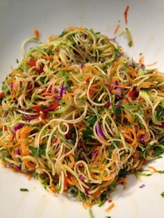 Living Vegan, Mostly Raw and Loving Life: Asian Noodle Salad (Raw)