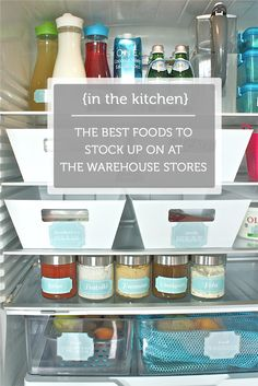 Great list of foods to buy in bulk to save money.