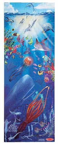 {100 Piece Under the Sea Floor Puzzle} The colorful, exotic world of the ocean depths is beautifully portrayed in this educational floor puzzle.