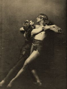 Ruth St Denis, famous dancer, with Ted Shawn in the early 1900s