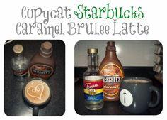 Copycat Caramel Brulee Latte- holiday drink recipe!