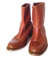 Men's Leather Zip Boots | Era Vintage