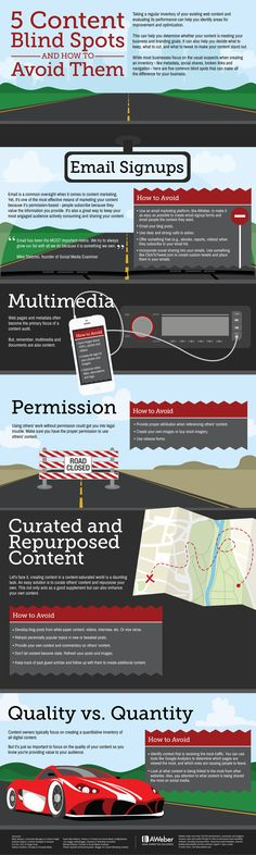 5 Content Blind Spots and How to Avoid Them #infographic