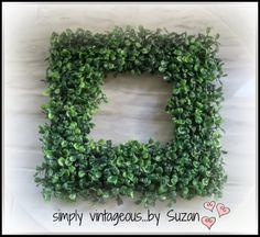 DIY Square Wreath