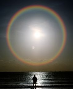 lights, circles, sun moon, sky, sunris, rainbows, cloud, natur, beauti