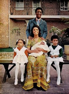 bill + camille cosby with the kiddies...