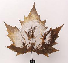 art decor, craft, green homes, leaf carv, botan art, leav art, leaf art, leafart, leaves