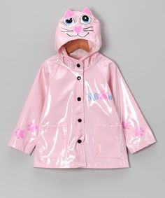 Take a look at this Pink Kitty Raincoat - Toddler by Western Chief on #zulily today!