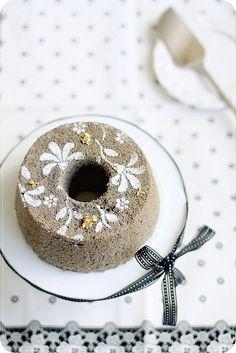 Black Sesame Chiffon Cake by bossacafez, via Flickr