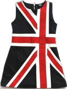 dolce & gabbana union jack dress