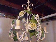 Vintage Italian Tole Light by PeriwinkleCourt on Etsy, $85.00
