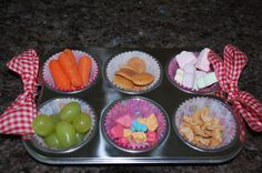 tin snack, snack time, muffin tin